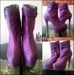 Vivian Heels 17cm bahan purple fabric 370rb