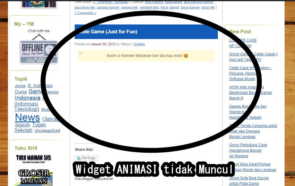 Animasi SWF Tidak Bisa Digunakan Lagi di WordPress | HilMy ...